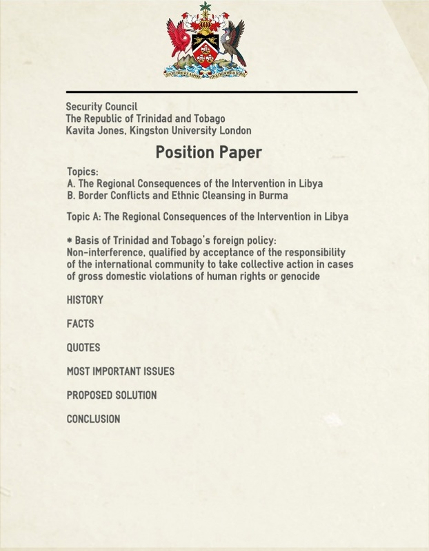 Position Paper Format Examples
